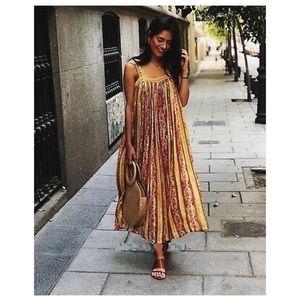 Laminated Print Dress